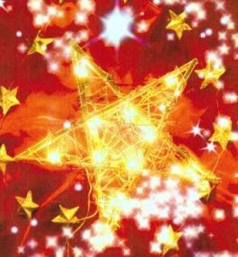 Étoile rouge et or