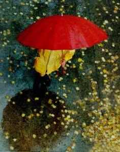 Parapluie rouge