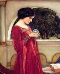 John William Waterhouse_-The_crystal_ball